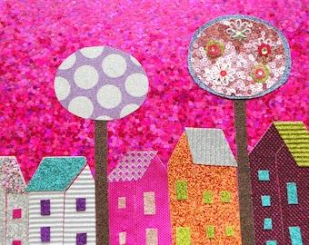 the neighbourhood 1 whimsical art  funky art wall art wall decor