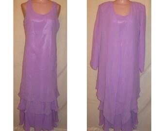 2-pc lilac jacket and dress set #20035