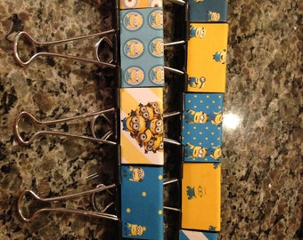 Minion Madness large binder clips