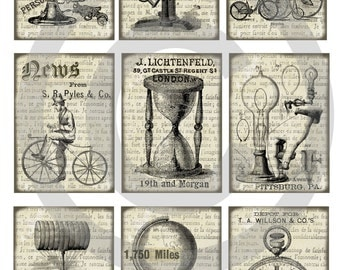 Instant download*digital sheet*old paper*scrapbooking*tags*labels*printable*steampunk*07