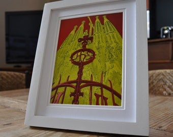 """Places I've Been - """"Barcelona"""" Print"""