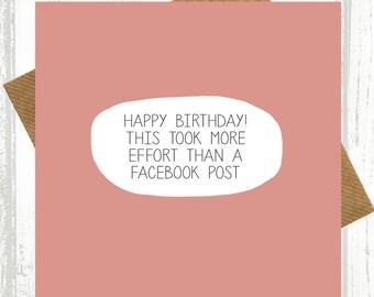 view birthday cards by wearepaperplane on etsy, Birthday card
