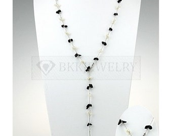 Onyx   Pearls   Pearl Necklace   Necklaces For Women   Bridal Jewelry   Bridal Necklace   Long Necklace   Y Necklace   Jewelry   Gifts