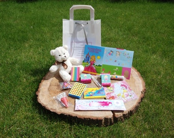 Childrens favour bags to keep the little ones occupied, stuffed with colouring, toys, activities and more