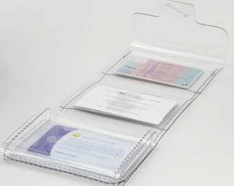 Credit card holder - shopping cards - transparent - clear