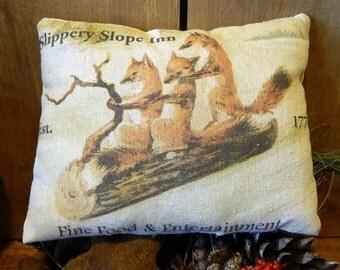 Handmade Fox Pillow, Fox Decor - Fox Pillow