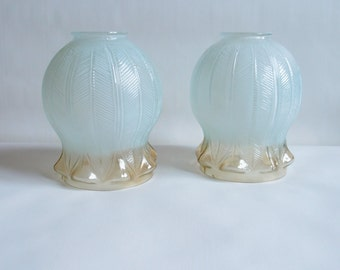 Vintage glass lamp shades - Set of 2 - USSR 1970s