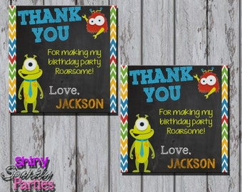 Printable MONSTER FAVOR TAGS - Little Monster Favor Tags - Monster Birthday Party Favor Tags - Little Monster Party Decoration  Monster Bash