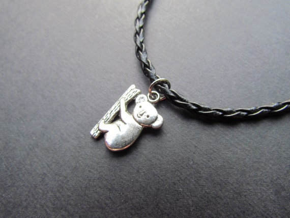 koala necklace leather cord koala by necklacehaven