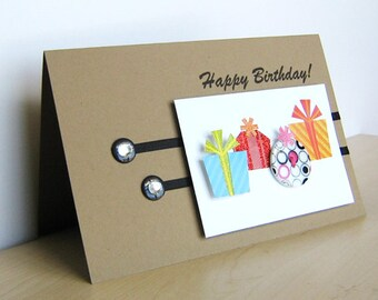 Rustic Gift Boxes Birthday Card