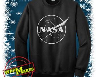 nasa logo sweatshirt crewneck nasa logo shirt nasa logo sweater black,white,sportgrey NS-2