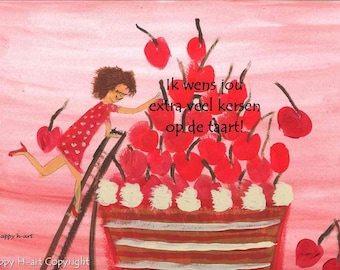 Set birthday cards