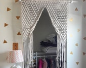 macrame door curtain