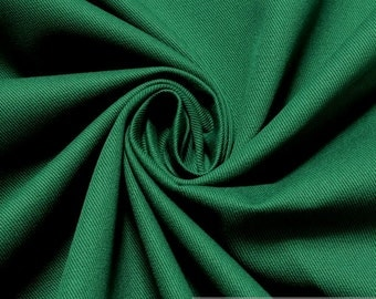 Fabric cotton demin green robust