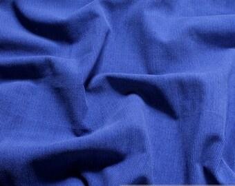 Fabric pure cotton corduroy china blue 1 mm needlecord cobalt blue
