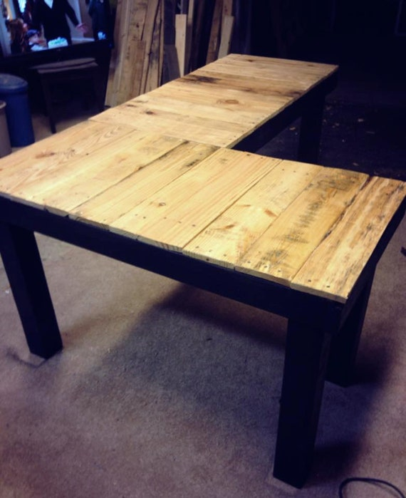 custom reclaimed wood l shaped desk by ovcustomwoodworking