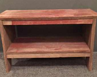 Authentic Rustic Barn Wood Bench