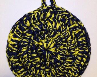Handmade WVU Crochet Pot Holder