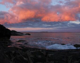 Maine Sunset photographic print