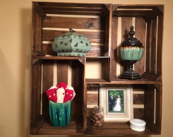 Reclaimed Crate Shelf