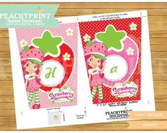 Strawberry Shortcake Banner Instant Download