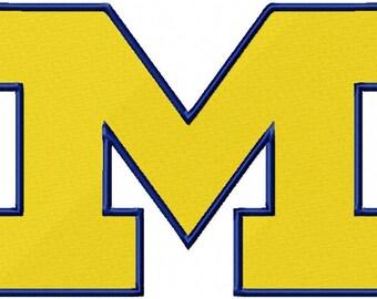 Michigan M Embroidery