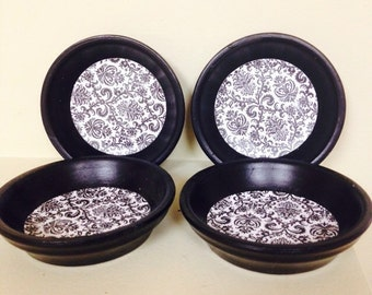 Terracotta painted coasters (set of 4)