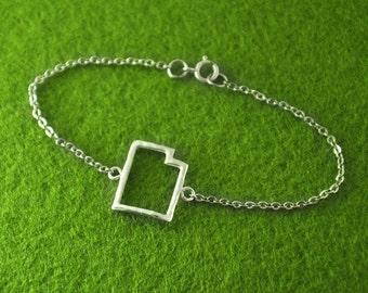 Custom Map Bracelet, Custom Utah pendant Personalized Map Bracelet, Utah pendant,custom map jewelry,Utah map jewelry
