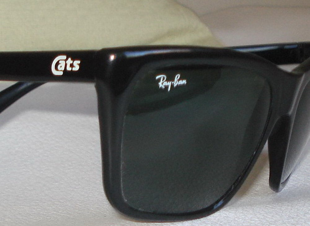 Ray Ban Cats Sunglasses Bausch Lomb Black Frame Black Lenses