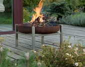 Steel Fire Pit CRATE (Tall) - Contemporary Design