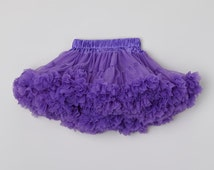 Clearance Sale Infant Pettiskirt full of ruffles. Purple  Fluffly Petti skirt Tutu. Vintage Pettiskirt