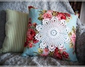Floral Doily Pillow - Shabby Chic, Country Cottage Charm