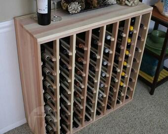 64 Bottle Premium Table Wine Rack (Redwood) by VinoGrotto