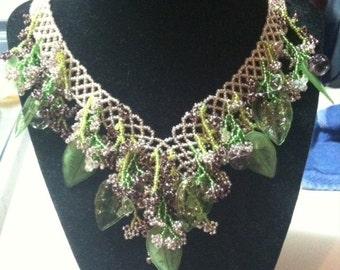 Grape & champagne Necklace