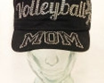 Volleyball Mom Bling hat