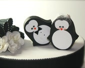 Penguins Wedding Cake Topper Penguin Winter Wedding