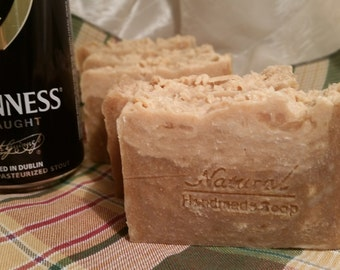Guinness Beer Handmade soap. Hot Process Soap. Gift for him. Gift for dad. Men Soap. Gift idea for men.