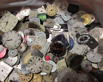 2000 pieces. Watch Face Dials, From Old Watch Parts, & Dials For Steampunk Altered Art Gear, Repair, or ScrapBooking