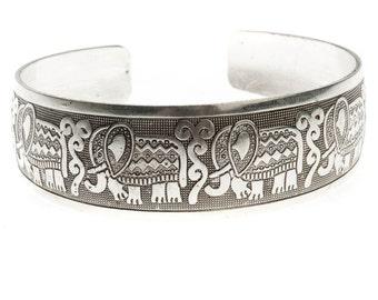 Adjustable Tibetan Silver Elephant Bracelet