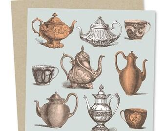 Teapot Greetings Card: Time for Tea