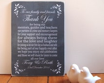 Thank You Wedding Sign Table Top Plaque Personalised Chalkboard Style Wedding Cake Table