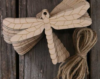 10x Wooden Dragonfly Craft Shape 3mm Plywood can be coloured with felt pens