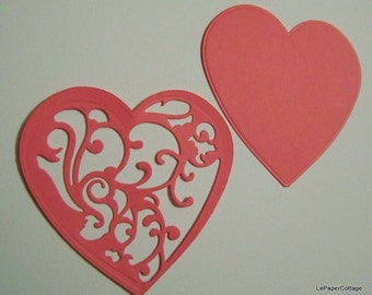Lace heart die cuts