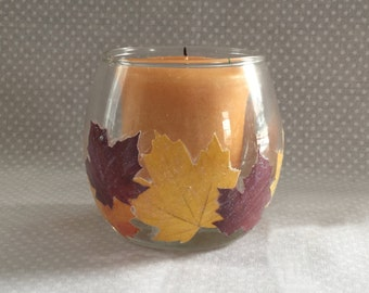 Votive Candle Holder- Autumn Leaves Candle Votive Holder