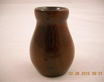 MINIATURE Vase CARVED WOOD