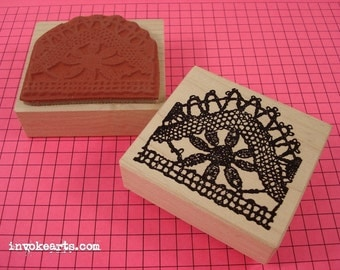 Lace Pattern 2 Stamp / Invoke Arts Collage Rubber Stamps