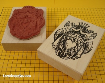 Angel Heart Stamp / Invoke Arts Collage Rubber Stamps