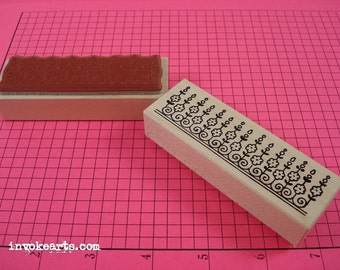 Paisley Top 2 Stamp / Invoke Arts Collage Rubber Stamps