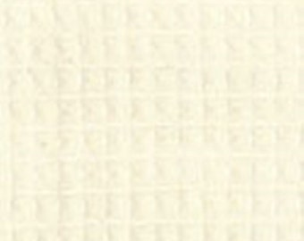 "12403-23 Puttin On the Ritz waffle weave Ivory Bunny Hill for Moda.  44"" wide cotton woven.  Price is per 1/2 yard"
