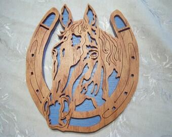 Wooden Horseshoe Wall Decoration